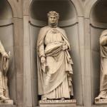 Uffizi-dante-boccaccio-petrarca