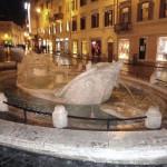 La fontana di Piazza di Spagna