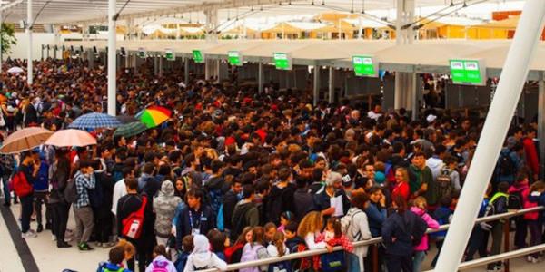 Visitatori Expo molti italiani