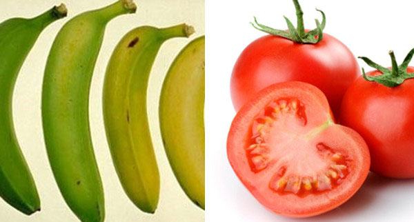 Alimenti-frigo-banane-pomodori
