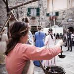 La festa con dame e cavalieri ad Abbadia San Salvatore