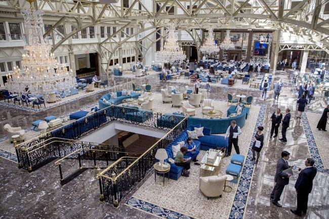 Comfort e filosofia di bellezza come un gioiello The Trump International Hotel Washington DC.