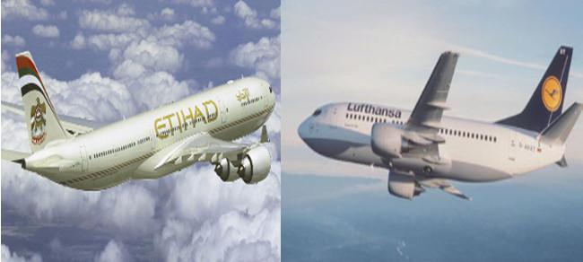 Partnership Etihad Aviation Group e Lufthansa German Airlines