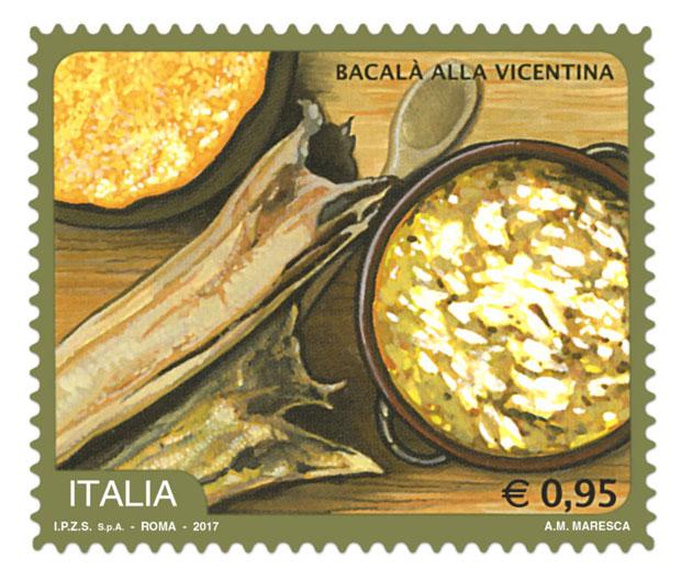 Francobollo dedicato alla ricetta, Il Bacalà alla Vicentina