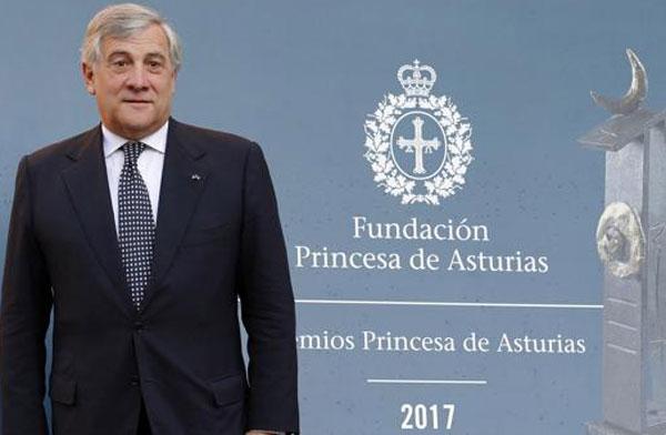 Principessa delle Asturie il Premio a Tajani