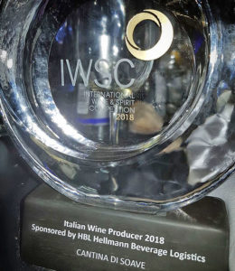 IWSC, alla Cantina di Soave, migliore produttore di vino