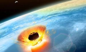 Asteroide che colpisce la terra