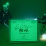 Spumante Brezza Riva nel caveau del Lago di Garda