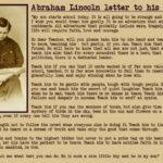 Scuola, Lincoln scrive al maestro di suo figlio