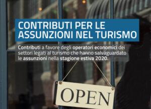 """Trentino. Gli operatori economici del settore turistico possono presentare domanda per i contributi provinciali previsti per i datori di lavoro che hanno assunto personale o comunque """"difeso"""" l'occupazione nell'estate 2020."""