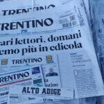 Ultima copia, chiude il Giornale Trentino