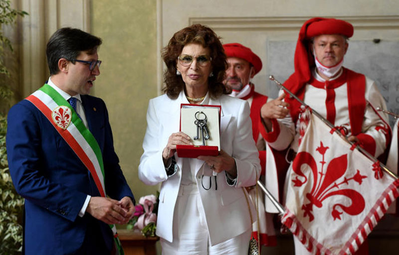 Sophia Loren a Firenze